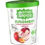 Мороженое Белая Бяроза пломбир слива-клюква-яблоко 555г