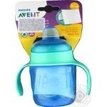 Чашка-непр.з м'яким носиком блакитна,6 міс+ Avent 200мл