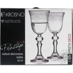 Набір чарок для горілки Krosno PRESTIGE KRISTA DECO, 50мл, 6 шт., F576030005009090