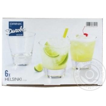 Набір стаканів серія Helsinki 330 мл. 6 шт. скло DUROBOR - купити, ціни на МегаМаркет - фото 1