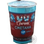 Sour cream Glechyk 15% 190g
