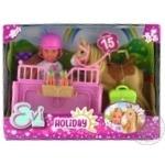 Кукольный набор Evi Love Holiday лошадь с аксессуарами от 3лет