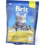 Корм сухий Brit Premium Cat Adult Salmon з лососем 0,3кг