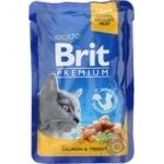 Food Brit premium trout canned for cats 100g