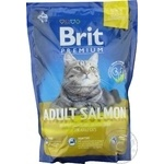Сухий корм Brit Premium Adult Salmon для дорослих кішок з лососем  1.5кг