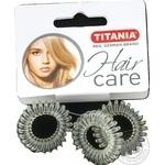 Зажим д/волос Titania Аnti Ziep полупрозрачн 7916 3шт