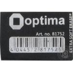 Резинка Optima Extra Soft Black для карандаша