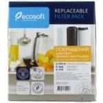 Комплект картриджей Ecosoft 1-2-3 Улучшенный для фильтров обратного осмоса