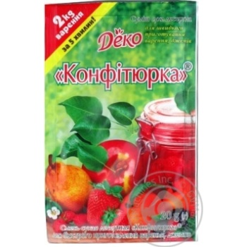 Суміш суха десертна Деко Конфітюрка 20г - купити, ціни на МегаМаркет - фото 1