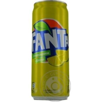 Напиток Fanta с лимонным соком безалкогольный сильногазированный сокосодержащий 0,33л