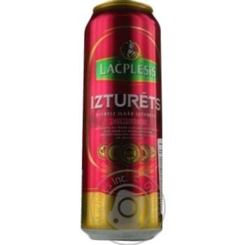 Пиво Lacplesis Izturets светлое ж/б 0,568л