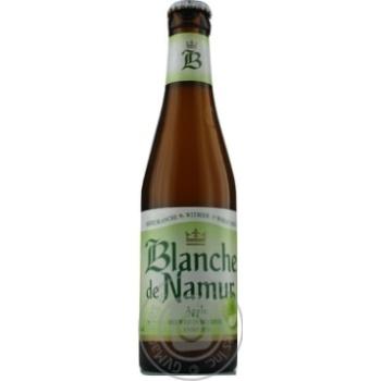 Пиво Blanche De Namur Apple светлое нефильтрованн 0,25л