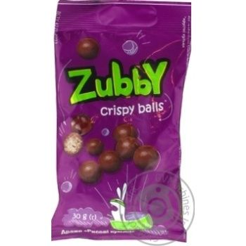 Dragee Zubby with rice balls in chocolate 30g - buy, prices for MegaMarket - image 1