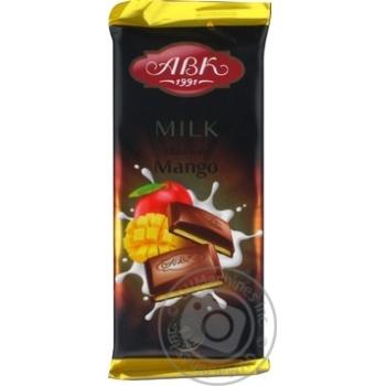 Шоколад АВК Молочный с начинкой Манго 90г - купить, цены на Novus - фото 2