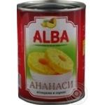 Ананасы Alba Food кольцами в сиропе 580мл