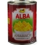 Ананасы Alba Food кусочками в сиропе 580мл