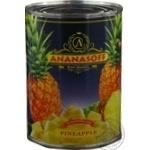 Ананасы Ananasoff кусочками в сиропе ж/б 580мл