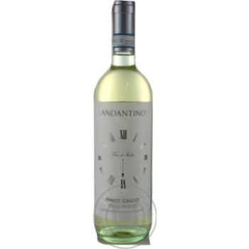 Вино Andantino Pinot Grigio delle Venezie белое сухое 12% 0,75л - купить, цены на МегаМаркет - фото 1