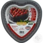 Форма Rossana Guardini серце 25x25x4,5см з ребристими краями арт