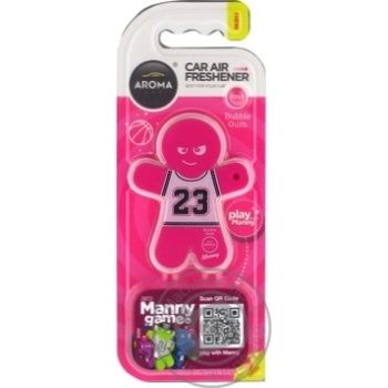 Aroma Car Manny Bubble Gum Air Freshener