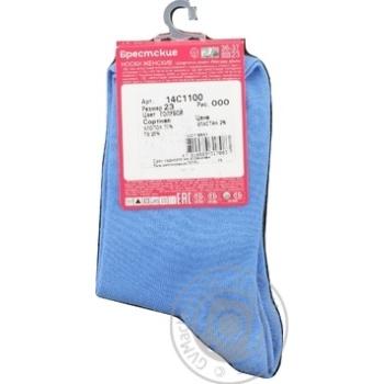 Носки Брестские Classic женские голубые 23р - купить, цены на МегаМаркет - фото 2