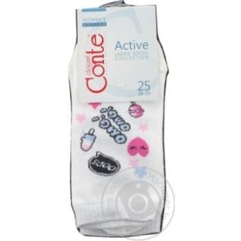 Шкарпетки жіночі Conte Elegant Active 15С46 білий Р25 333 шт