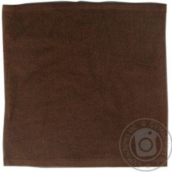 Серветка махрова без бордюра темно-коричневий 100% бавовна 30*30см 400г/м2 16/1 SAFFRAN - купить, цены на Novus - фото 1