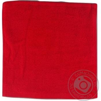 Серветка махрова без бордюра червоний 100% бавовна 30*30см 400г/м2 16/1SAFFRAN - купить, цены на Novus - фото 1