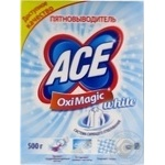 Пятновыводитель ACE Oxi Magic White 500г