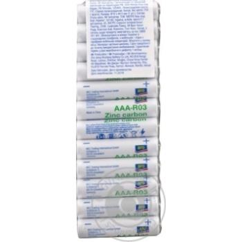 Батарейки Aro цинковые AAA (LR3) 12шт - купить, цены на Метро - фото 1