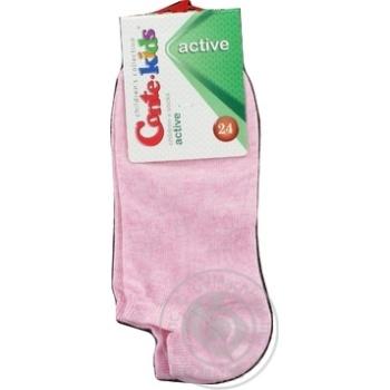 Носки Conte Kids Active детские ультракороткие светло-розовые размер 24 - купить, цены на Novus - фото 3