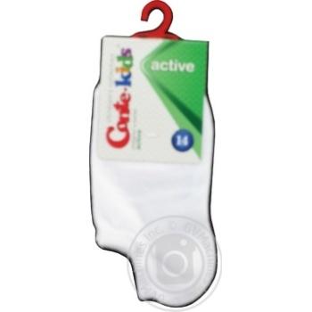Носки Conte Kids Active детские ультракороткие белые размер 14 - купить, цены на МегаМаркет - фото 1