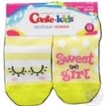 Шкарпетки дитячі Веселі ніжки Tip-Top Conte-kids 17С-10СП, розмір 12, 284 світло-жовтий
