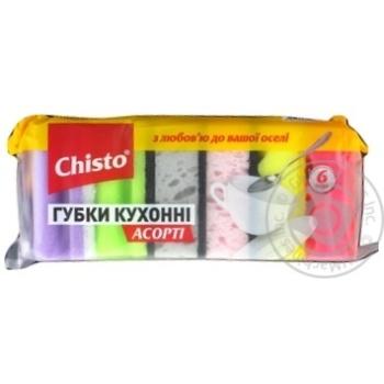 Губки Chisto кухонные ассорти 6шт