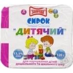 Сыр Злагода Детский сладкий с витаминами 13,5% 120г