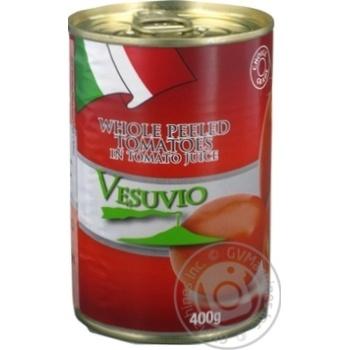 Томати цілі очищені в томатному соці консервовані пастеризовані Fiamma400 г