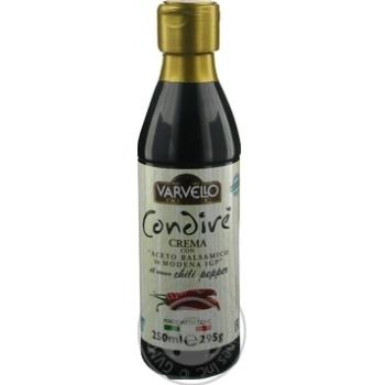 Соус з бальзамічного оцту із Модени зі смаком перцю чилі Varvello 250млпл/б - купить, цены на Novus - фото 3