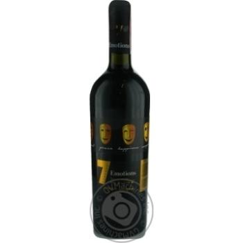Вино 7 Emotions Cabernet-Sauvignon полусладкое красное 0,75л - купить, цены на МегаМаркет - фото 1