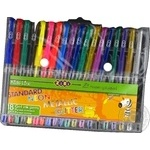 Набір із 18-ти гелевих ручок STANDARD+NEON+GLITTER+METALLIC ZiBi