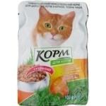 Корм для взрослых котов Повна Чаша с курицей 100г