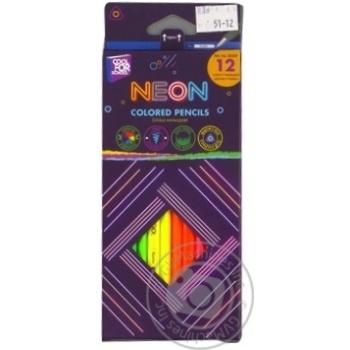 Олівці Cool For School Neon кольорові 12 шт. - купити, ціни на Метро - фото 1