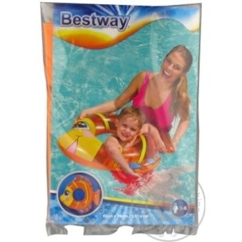Круг надувной для плавания Best Way Friendly Fish 81*76см