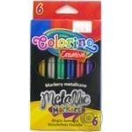 Colorino Colored Metallized Markers 6pc