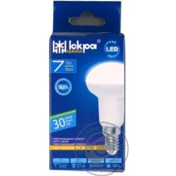 Лампа LED Lamp Іскра R50 220В 7Вт 3000K E14 - купить, цены на Novus - фото 1