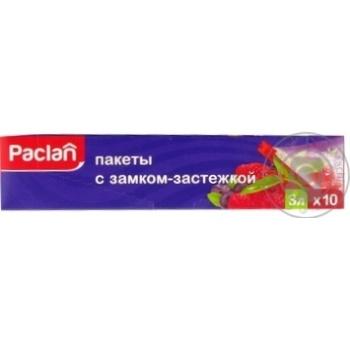пакети iз замком-застібкою Paclan 27*28см 3л 10шт