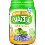 Puree Malenkoye schastye bog bilberry for children 180g