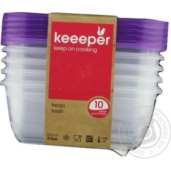 Набір ємностей для СВЧ Keeeper Fredo Fresh 0672 прямокутний 5шт 500мл - купити, ціни на CітіМаркет - фото 1