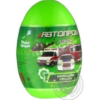 Autoprom Toy Car Metal in Plastic Egg in stock