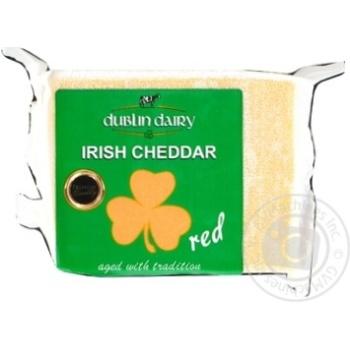 Сыр Dublin Dairy чеддер красный сычужный зрелый сыр 48% 200г - купить, цены на Метро - фото 1