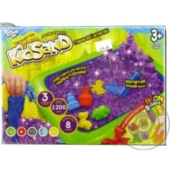 Набір д\творчості Danko Toys кінетичний пісок KidSand 1200г - купити, ціни на МегаМаркет - фото 1